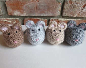 Light Brown Hand Knitted Mouse