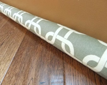 DOOR draft stopper, gray geometric draft snake, draught excluder, draft stopper