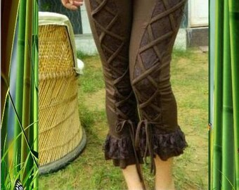 """Stretch leggings and chocolate lace """"PSY TRANCE"""""""