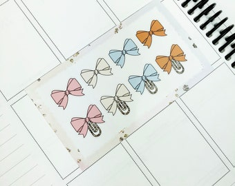 Once Upon A Time // Bows (Glossy Planner Stickers)