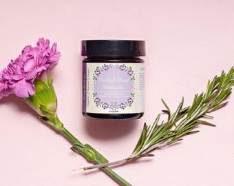 Patchouli Facial Moisturizer, Acne Prone Skin Creme, Nourishing Natural Face Cream, Calming, Hydrating, Soothing, Cruelty Free Vegan Organic