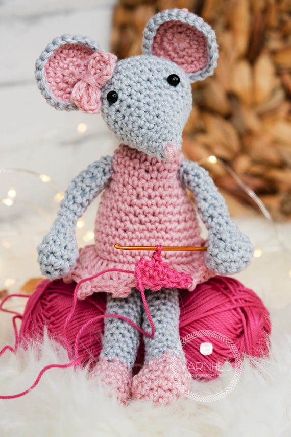 Crochet mouse pattern for a amirugumi mouse, instant pdf download ...