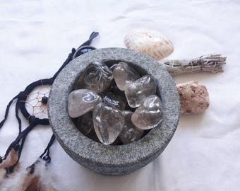 Smoky Quartz Crystals   Tumbled Smoky Quartz Crystals and Stones, Reiki and Meditation Crystals, Grounding Stones