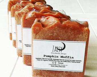 Pumpkin Muffin Soap, Fall Beauty Collection, Autumn Skincare, Goats Milk Soap, Creamy Soaps, Cold Processes Handmade Soap