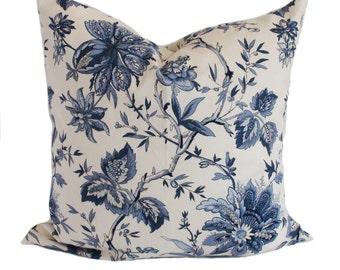 Blue pillow, Blue pillow cover, Decorative pillow, Throw pillow, Sham, Couch cushion, 12x20, 16x16, 18x18, 20x20, 22x22, 24x24, 26x26