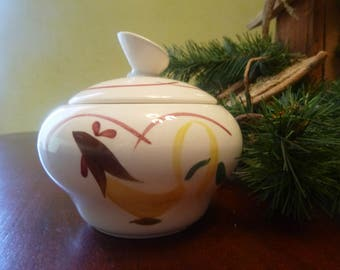 Stetson China Hand Painted Rooster Sugar Bowl,  RARE FIND    (T)