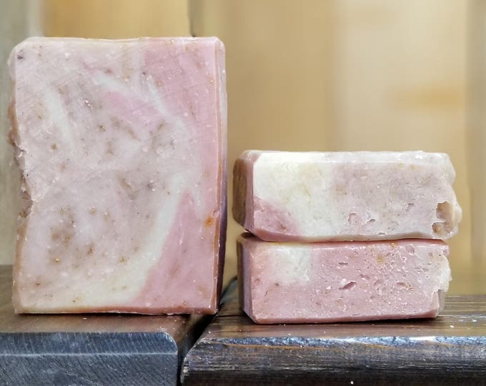 Grapefruit Love - Grapefruit essential oil soap, all-natural, handmade, vegan, barely-scented soap. Free Shipping.