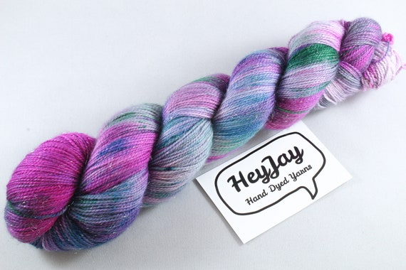Hand Dyed Sparkle Sock Yarn - Ixyan