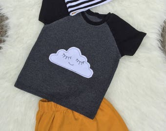 Happy Cloud Raglan T-Shirt