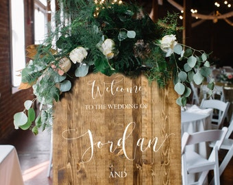 Wedding Welcome Sign - Rustic Wood Wedding Sign Welcome to the wedding of - Victoria Collection