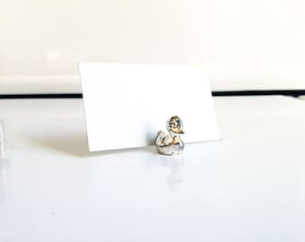 Silver Plated Duck Card Holder / Name Place Holder / More Available