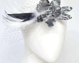 "Flapper Headband, Bridal headband, ""Charleston"",silver, 20ies style, 30ies, headpiece, great gatsby"