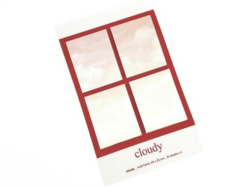 """Weather stickynotes """"cloudy"""""""