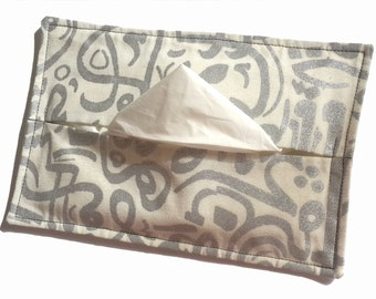 Arabic Calligraphy Hand Printed Fabric Table Tissue Cozy