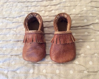 Leather Stay On Baby Shoe