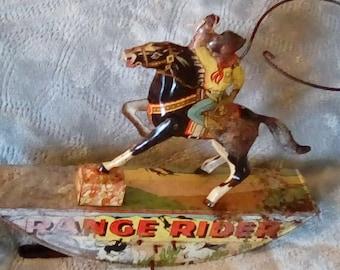 Marx Range Rider litho wind up toy