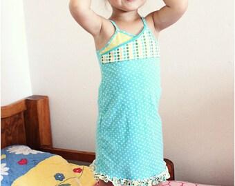 Sadie Nightie: Girls Nightgown PDF Pattern, Summer Pajamas PDF Pattern