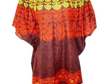 Short caftan/Rayon Caftan/Kaftan for all/Free Size Caftan/Knee Length Beach Coverup/Beach Caftan/Short Top/Multicolor Caftan/Gifts/Dresses