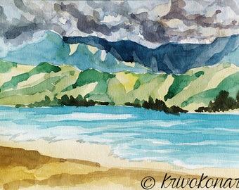 Stormy Clouds/Original Artwork, Watercolor, Modern Art, Wall Decor