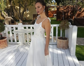Boho wedding dress, lace wedding dress, boho wedding gown, boho bridal dress, boho bridal gown, bohemian wedding dress, bohemian bridal gown