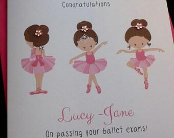 Ballerina, Ballet Dancer Exam School Card