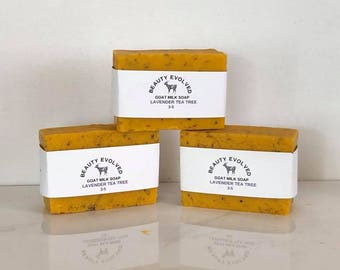Lavender Tea Tree Goat Milk Soap  / LIMITED EDITION SOAP cold process
