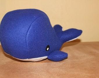 Choose your Solid stuffed whale/nursery decor
