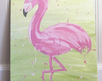 Flamingo Painting - original wall art
