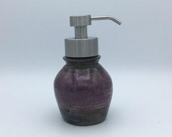 Foaming Soap Dispenser, ceramic soap dispenser, ceramic foamer, metal foam soap pump, pottery foamer, foam soap bottle