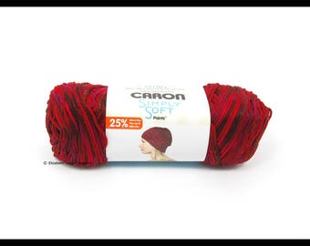 Caron Simply Soft Paints Yarn, Sunset, 5 oz