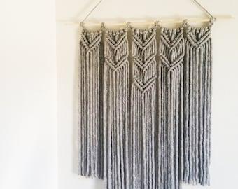 Macrame Gray Wall Hanging