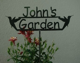GREAT Gift - Custom Metal Garden Sign with YOUR NAME Personalized - Great Gift - 14 Designs