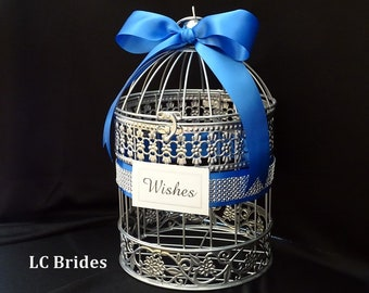Wedding Wishing Well, Well Wishes Box, Birdcage, Birdcage Card Box, Advice Card Box, Card Holder, Wedding, Baby Shower, Bridal Shower, White