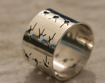 Sterling Silver Ring, Unisex  Silver Band ,Mens Silver Rings , Silver Mens Rings ,Mens Silver Band,Wide Silver Band,