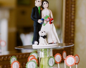Custom Wedding Cake Topper,Custom wedding cake topper, Bride and groom cake topper, personalized cake topper, Mr and Mrs cake topper