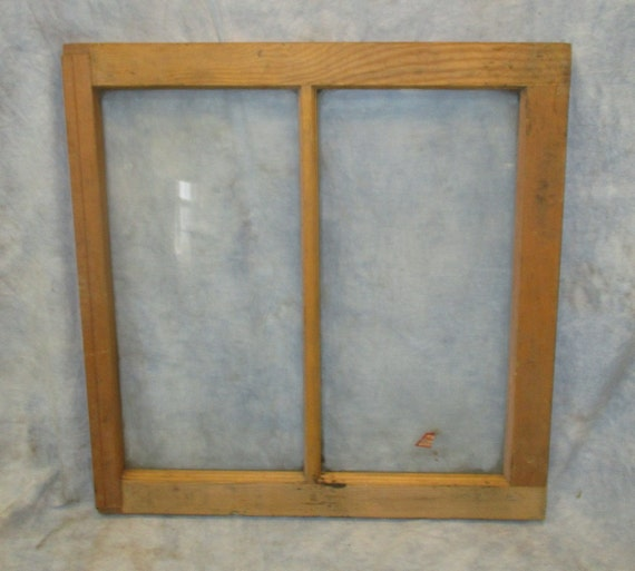 Old Wood Window Frame 2 Glass Panes Rustic Shabby Chic Cottage 24 x ...