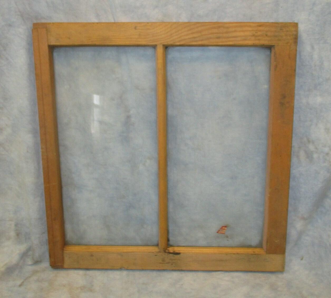 Alte Holz Fenster Rahmen 2 Glasscheiben rustikale Shabby Chic