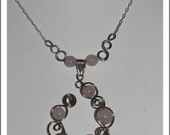 Rose Quartz natural stone necklace