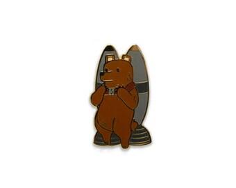 "Limited Edition JetPack Bear 1.25"" Inch Hard Enamel Pin"