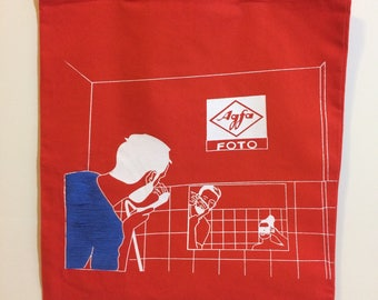 AGFA tote w/ embroidery