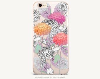 iPhone 8 Case iPhone X Case iPhone 7 Case Dahlia Clear GRIP Rubber Case iPhone 7 Plus Clear Case iPhone SE Case Samsung S8 Plus Case U240