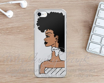 Good Hair- Natural Hair Black Woman Afro Art iPhone 7, 8 & 7, 8 Plus Case