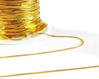 Chain fine snake, creative supplies, golden chain, 1 meter