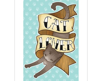 Cat Lover A5 Art Print