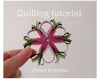 Quilling pattern / tutorial / how to, Christmas ornament, wedding decoration (QD14) - DIY, PDF Instant download