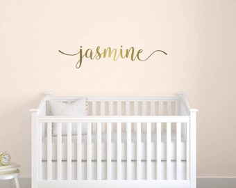 Name Decals, Custom Vinyl Name Decal, Personalized Girls Name Decal, Nursery Wall Decals, Calligraphy Name Decal