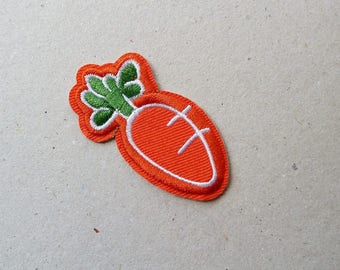 Carrot iron on, carrot patch, iron on applique, cute patches, badge patch, sew on patch, patches for jackets, food patches, iron on patches