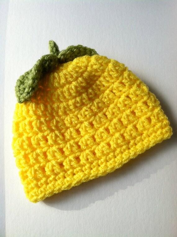 Crochet Baby Hat Baby Hat Lemony Yellow Baby Hat Newborn