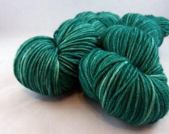 Emerald - Hand Dyed Superwash Merino DK Yarn