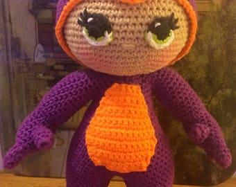 Draconia then Dragon Girl Doll - Amigurumi Crochet Pattern